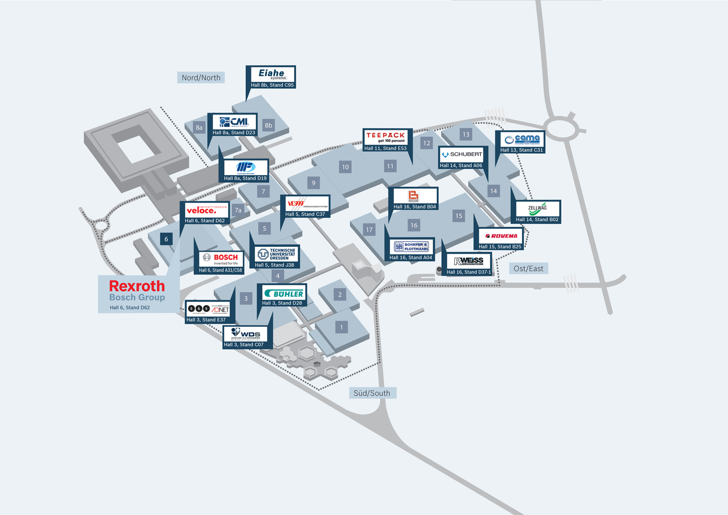 interpack map