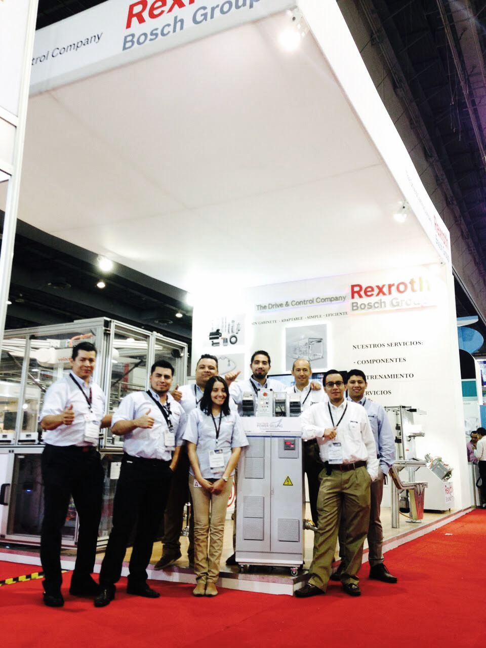 Bosch Rexroth and Vector Automation team at Expopack in Mexico City